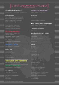 List of Legionnaires